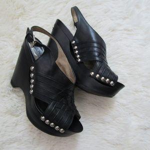 Michael Kors Slingback Black Leather Shoes